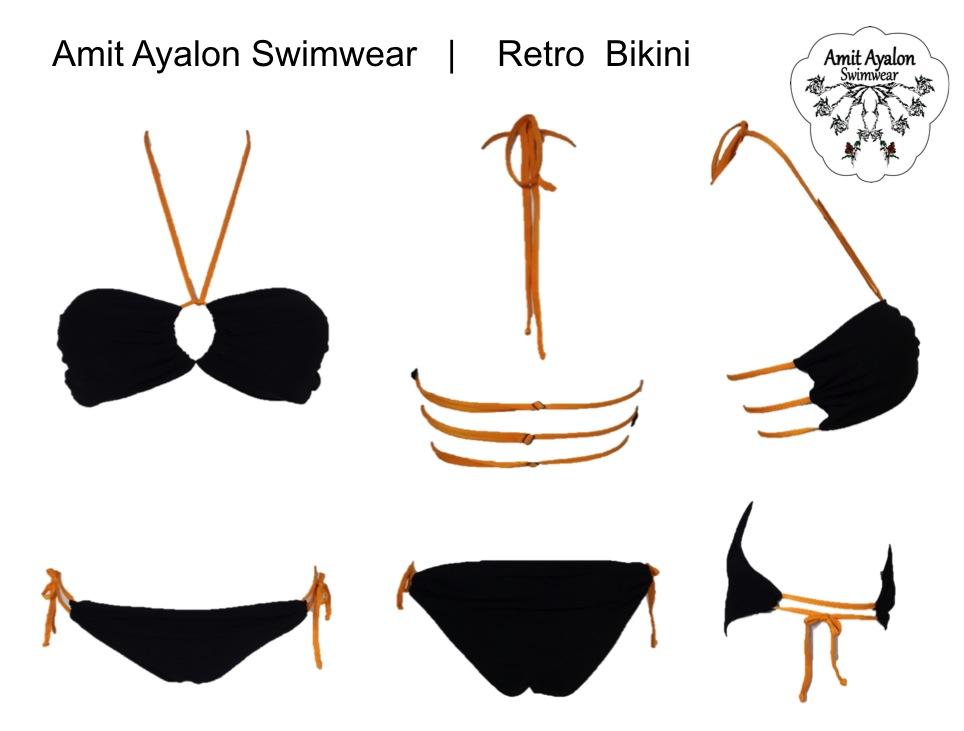 Retro Bikini Black