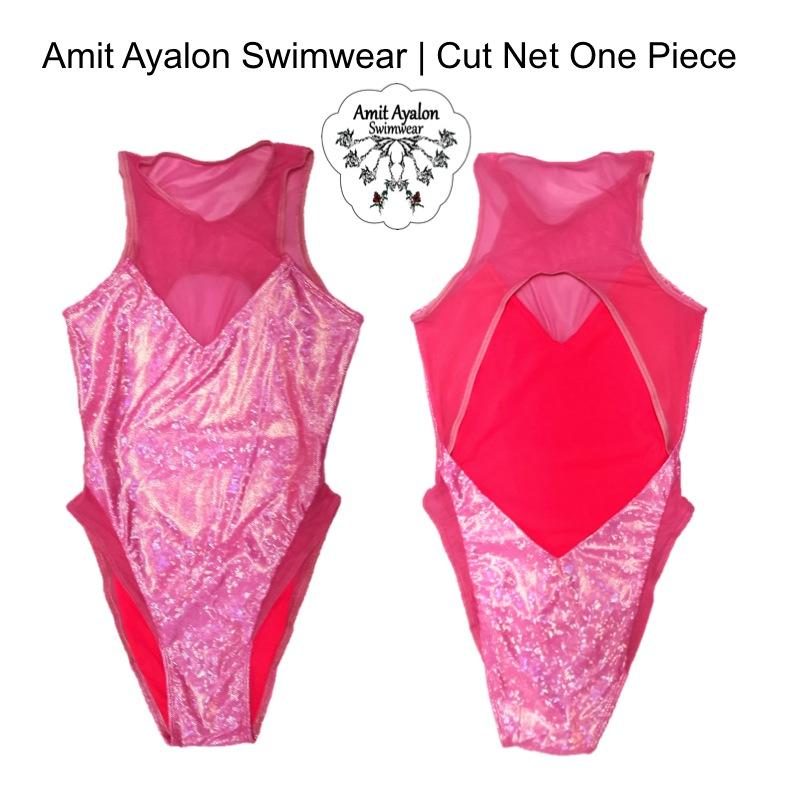 Net Cut One Piece Pink Holo