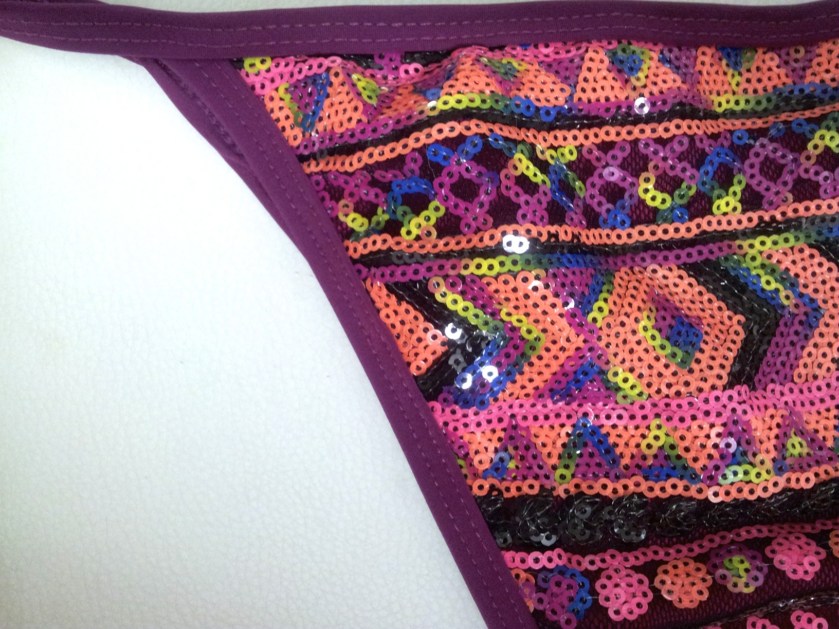 Black &Colour Sequins Purple binding