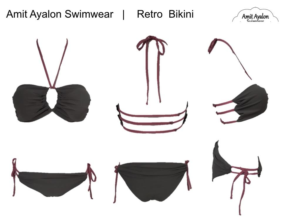 Retro Bikini Grey