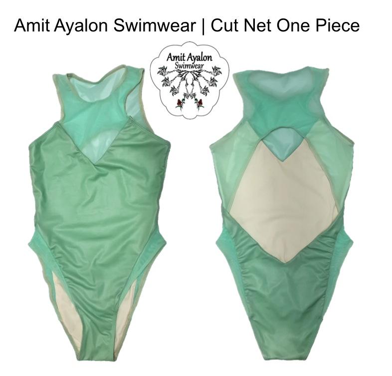 Net Cut One Piece Mint Green