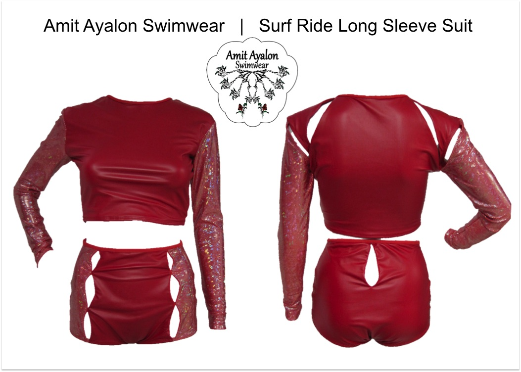 Red Long Sleeve Suit