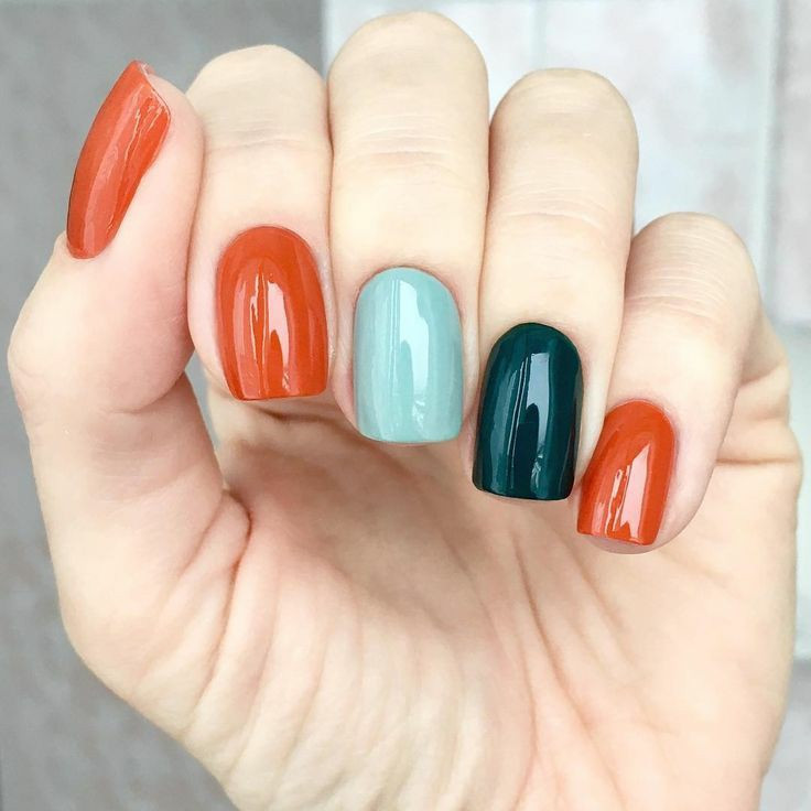 The trend this year, as seen on Pinterest, the holy grail of trends, is multi-colored manicures.