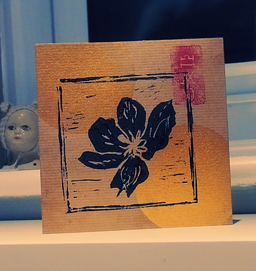 'Tomorrow Again' CD Album - Handmade Linocut, personalised with your own message