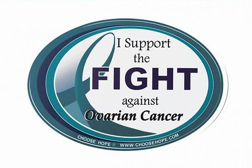 """I Support the Fight against Ovarian Cancer"" Decal"