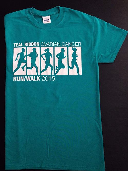 Teal Ribbon Ovarian Cancer Run/Walk T-Shirt (2015)