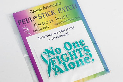 """""""No One Fights Alone"""" Cloth Stick-On Decal"""