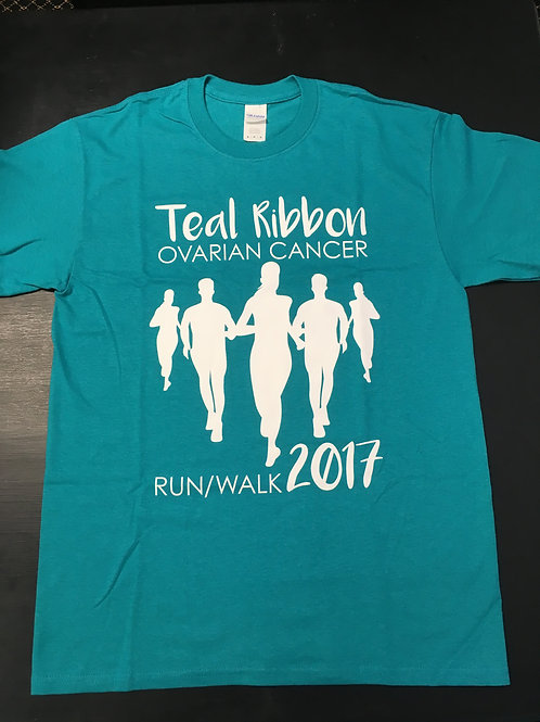 Teal Ribbon Ovarian Cancer Run/Walk T-shirt (2017)