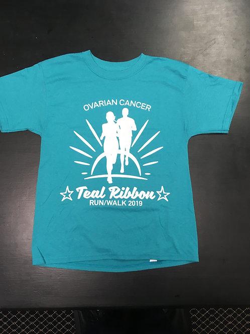 Teal Ribbon Ovarian Cancer Run/Walk T-shirt (2019)