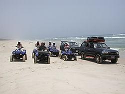 Quad et 4x4 au plage de la grande côte avec Esprit d'Afrique