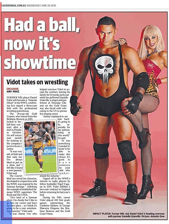 Daniel Vidot's new wrestling persona