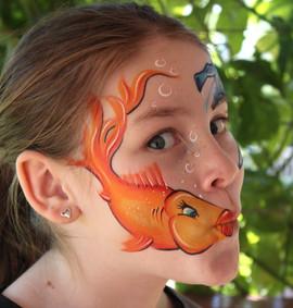 Cute goldfish face painting