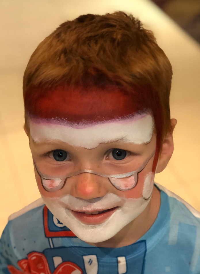 Santa Claus face painting by Brisbane face painter Beth Joyce