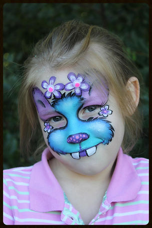 Cute purple and blue Monster face painting