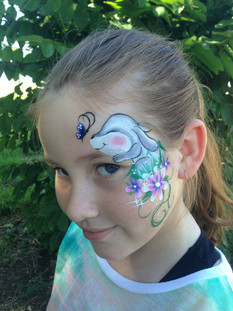 Spring is in the air with this gorgeous bunny and flowers face painting by Brisbane artist Beth Joyce.