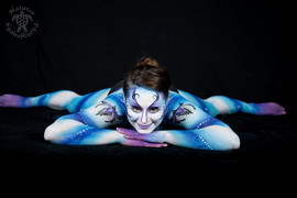 Shades of blue Cirque du soleil inspired full body painting
