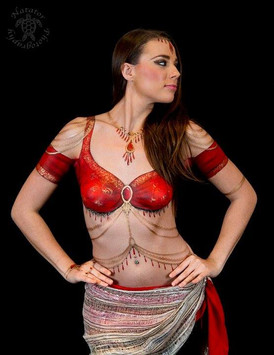 Painted sari and Indian inspired jewellery by Brisbane artist Beth Joyce