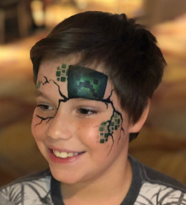 Minecraft Creeper Face Painting