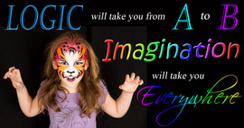 Colourful roaring tiger face painting by Brisbane face painter Beth Joyce
