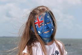 Australian flag face paint design
