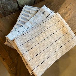 Linen Tea Towel (black/tan)