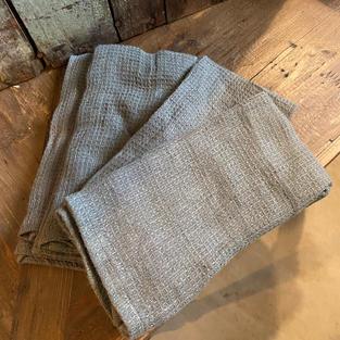 Linen Napkin Set/4 (gray/green)
