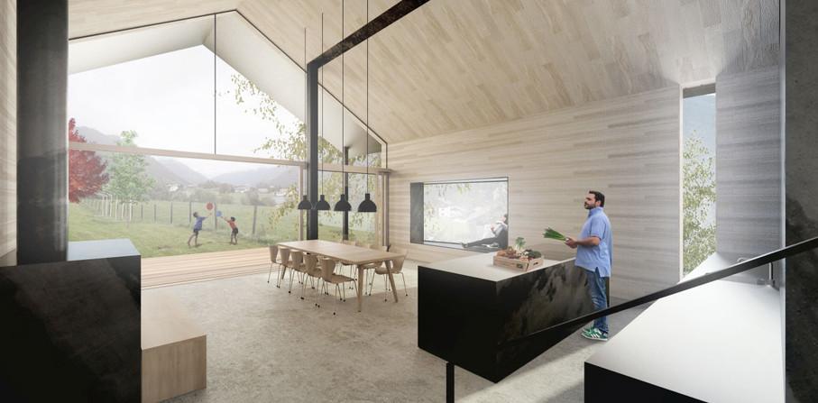 Neubau Haus Holzfassade St. Gallenkirch Vorarlberg Montafon Mikula El Ghoubashy architekturhandwerk
