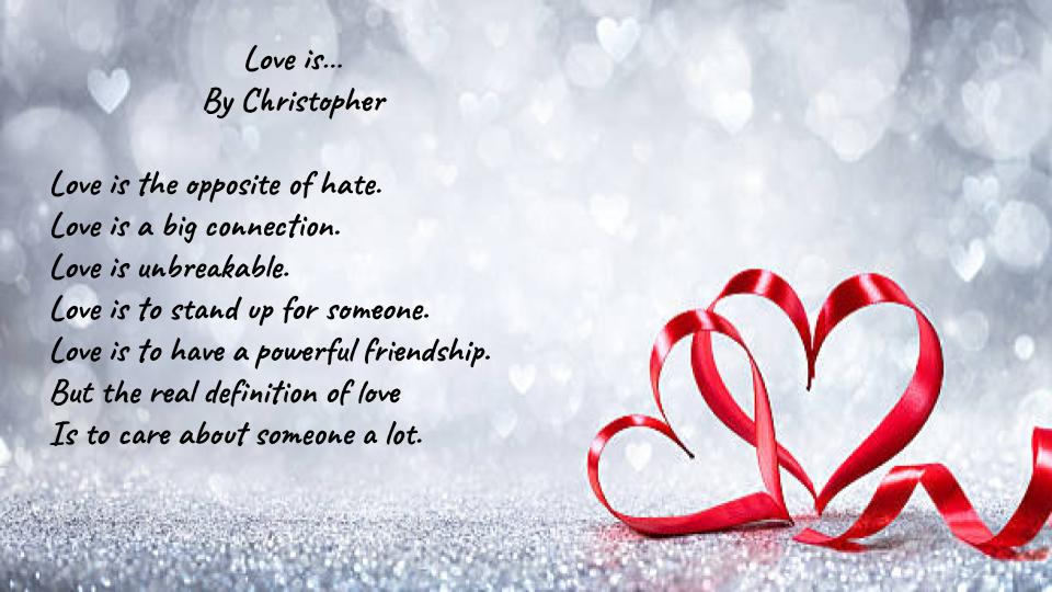 Love is by Christopher