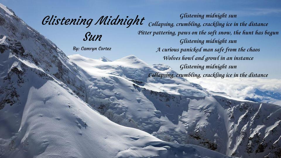 Glistening Midnight  Sun By Camryn