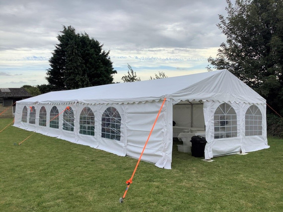 The three new tents assembled into one.