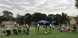 The dog show field
