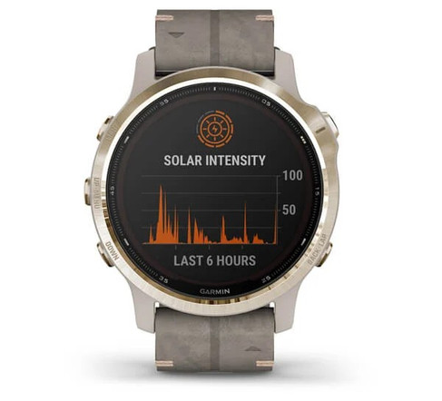 garmin oman fenix 6S Pro Solar suede gold