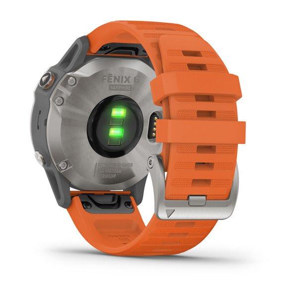 garmin oman fenix 6 sapphire titanium orange