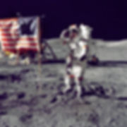 NASA astronaut, Pete Conrad, on the moon