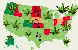 Legal marijuana states map | USA Weed map 2019