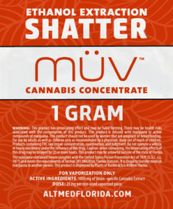 MUV concentrates Shatter