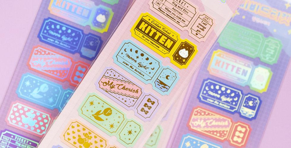 MANTA BOX Sparkling Ticket Sticker
