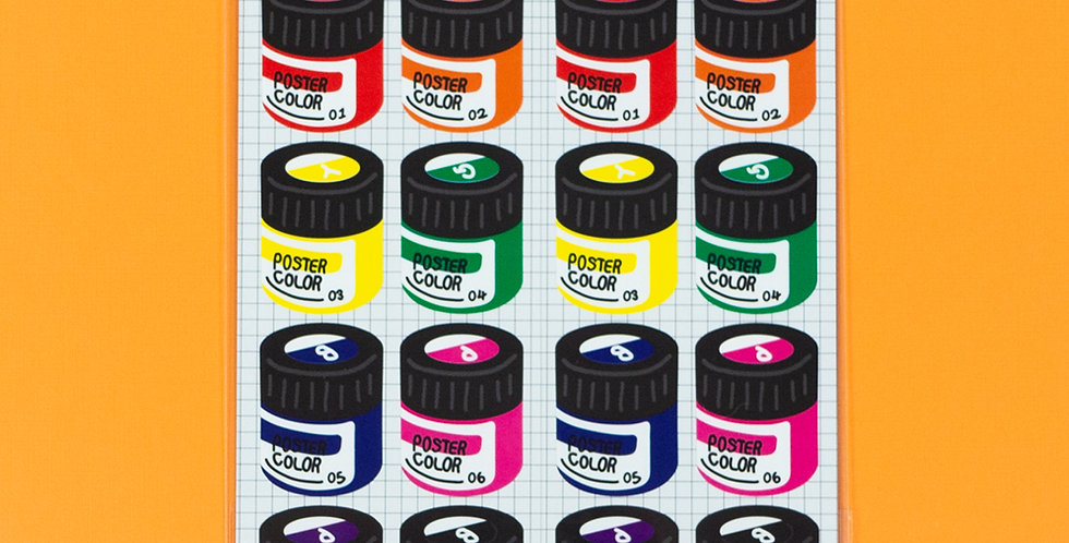 WANNATHIS Rainbow Poster Color Sticker