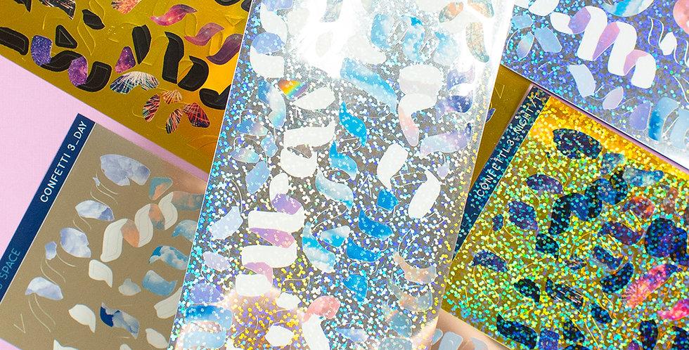 POLARIS SPACE Day & Night Metal Confetti Sticker
