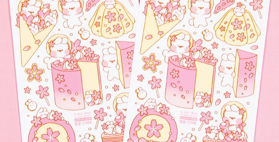 PUT SO NYEON Blossom Dessert Sticker
