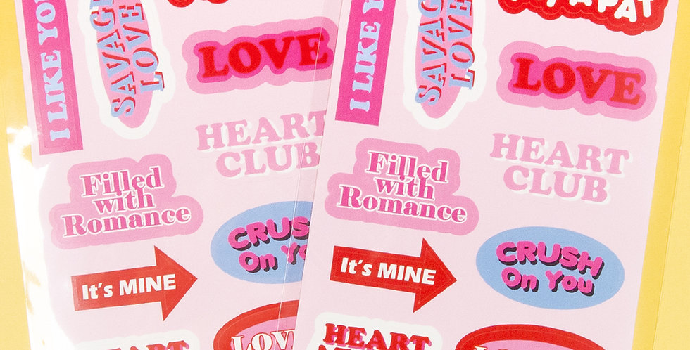 LOVE THINGS Love Words Sticker