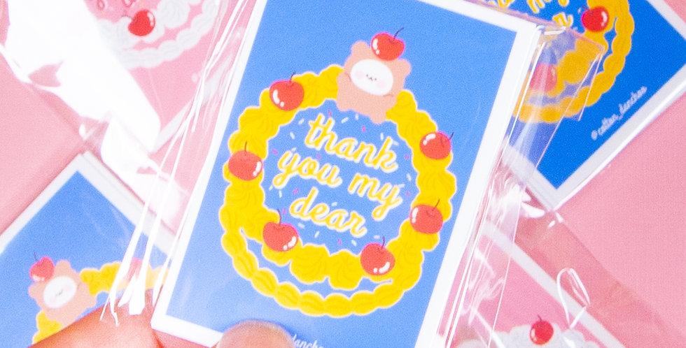 COTTON DANCHOO Mini Cake Sticker