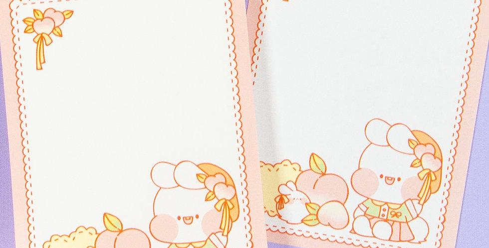 PUT SO NYEON Peach Lace Memo