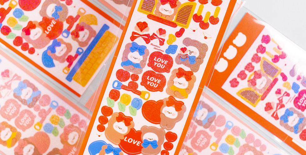 COTTON DANCHOO Couple Sticker