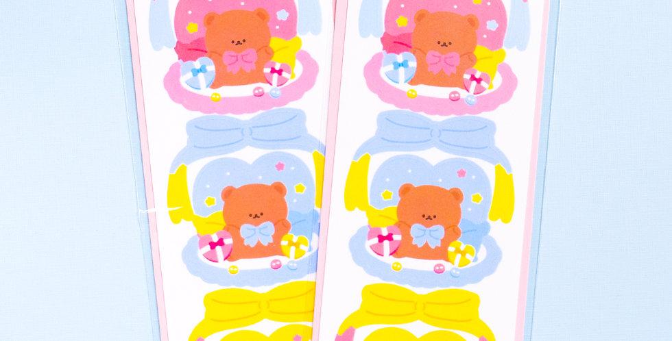 COTTON DANCHOO Big Ribbon Bear Sticker