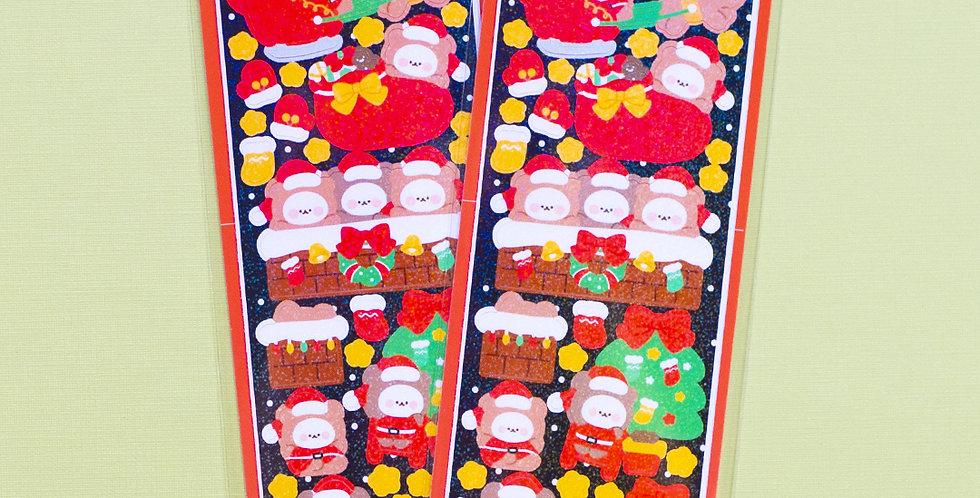 COTTON DANCHOO Santa Sticker