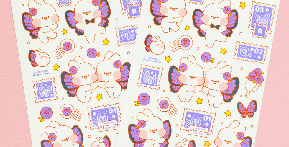 PUT SO NYEON Butterfly Sticker