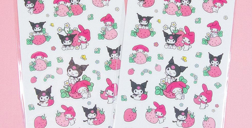 SANRIO My Melody & Kuromi Transparent Sticker