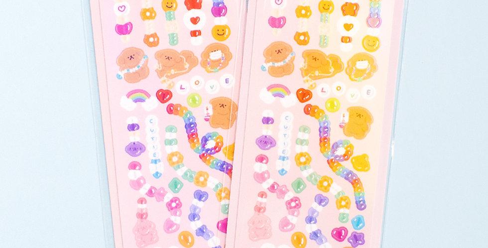 OKIKI Bead Sticker