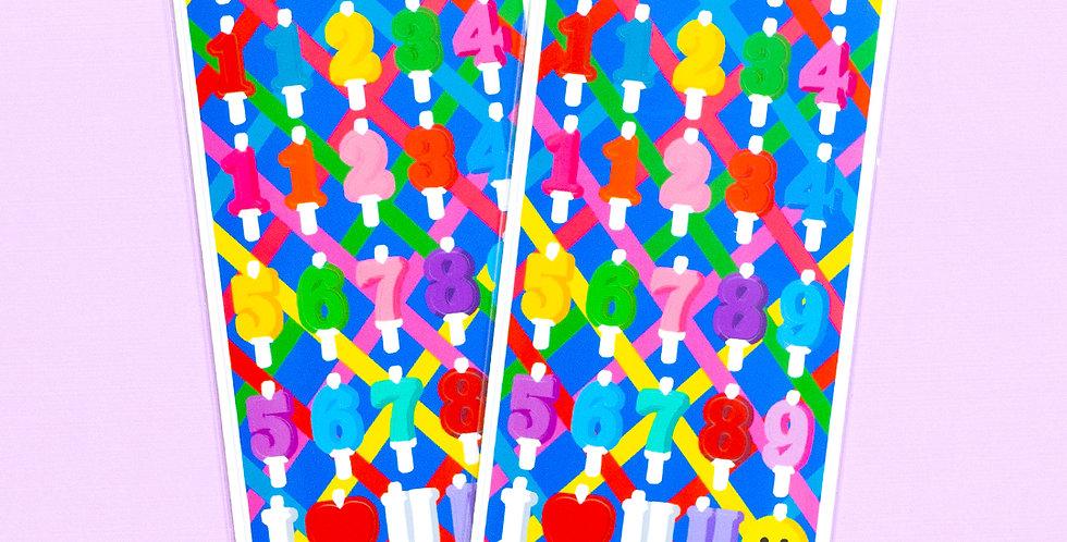 LEMON BERRY Party Candle Sticker